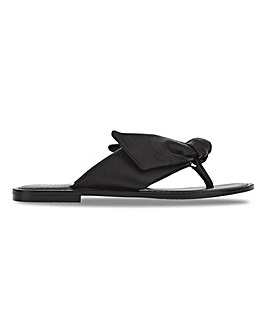 Petunia Leather Flower Toepost Sandals Wide Fit