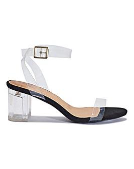 Margo Perpex Sandals Standard Fit