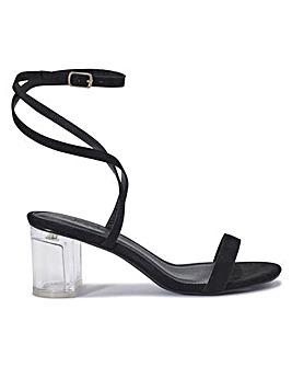 Vada Perspex Heels Standard Fit