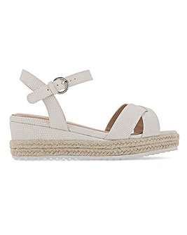 Strasbourg Espadrille Wedge Sandals Wide Fit