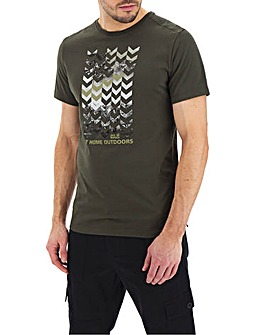 Jack Wolfskin Short Sleeve Chevron T-Shirt