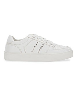 Nessa Studded Lace Up Chunky Trainers Wide Fit