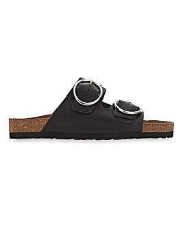 Abbie Leather Footbed Sandals Extra Wide Fit