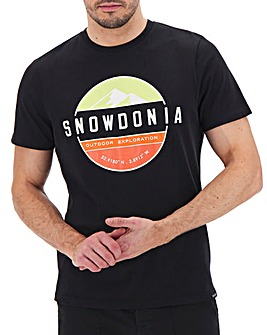 Snowdonia Short Sleeve Logo T-Shirt Long