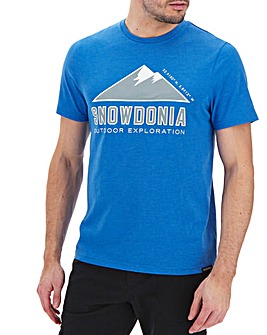 Snowdonia Short Sleeve Logo T-Shirt Regular