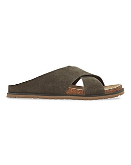 Bahamas Suede Footbed Sliders Extra Wide Fit