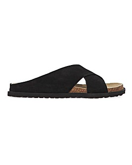 Bahamas Suede Footbed Sliders Wide Fit
