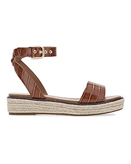 Connecticut Flatform Espadrille Sandals Extra Wide Fit