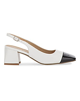 Otley Square Toe Slingback Court Shoes Extra Wide Fit