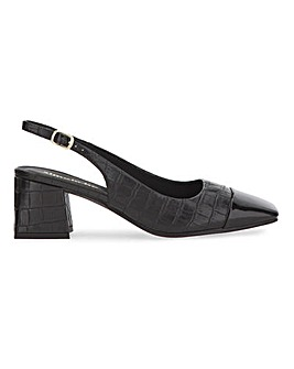 Otley Square Toe Slingback Court Shoes Wide Fit