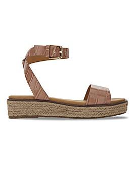 Connecticut Flatform Espadrille Sandals Extra Wide Fit