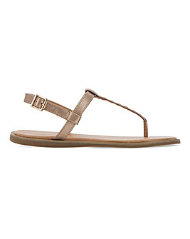 Verona Harness Toe Post Sandals Extra Wide Fit