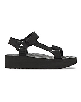 Deedee Eco Friendly Flatfrom Sandals Wide Fit