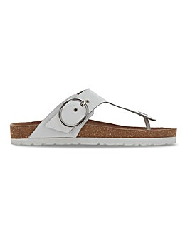 Leather Toepost Sandals Extra Wide Fit