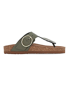 Kristen Leather Toepost Footbed Sandals Standard Fit