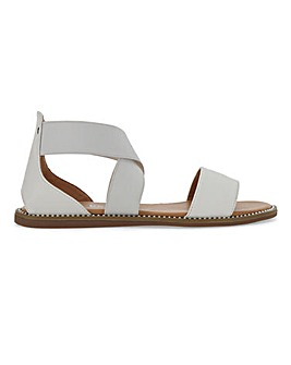 Joanne Elastic Strap Flat Sandals Extra Wide Fit