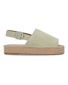 Rachael Suede Flatform Espadrille Sandals Extra Wide Fit