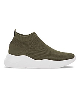 Sock Ankle Trainers Wide Fit