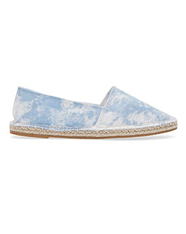 Tie Dye Espadrille Shoes Extra Wide Fit