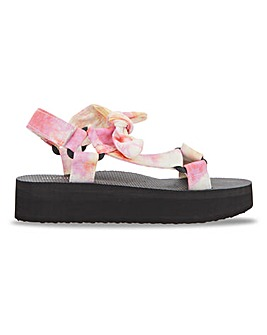Mia Eco Friendly Flatfrom Sandals Wide Fit