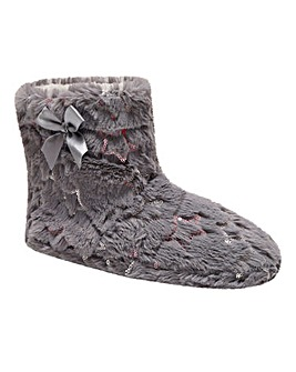 Kimmy Star Fur Slipper Boots Standard Fit