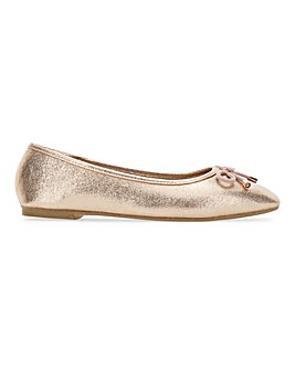 Ilkley Classic Flat Ballerina Shoes Wide Fit