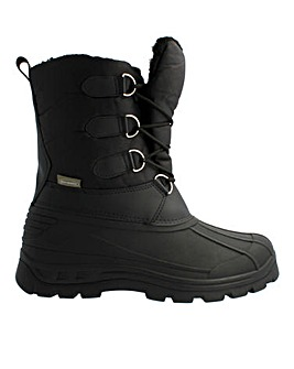 Frosty Chunky Winter Lace Up Boots Standard Fit