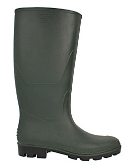 Billie Classic Green Mid Calf Wellies Standard Fit Standard Calf