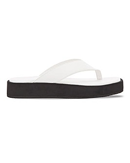 Elora Leather Flatform Sandal Extra Wide Fit