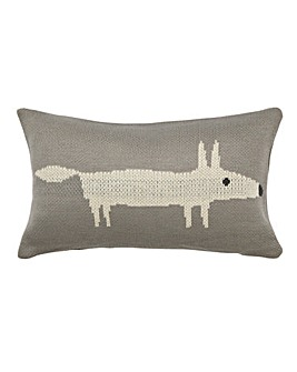 Scion Mr Fox Silver Cushion