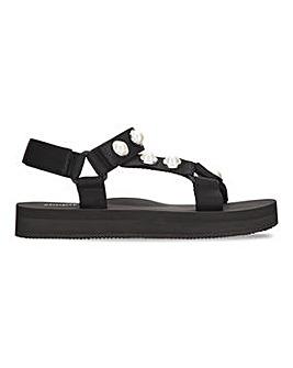 Diane Sporty Pearl Flatform Sandal Wide