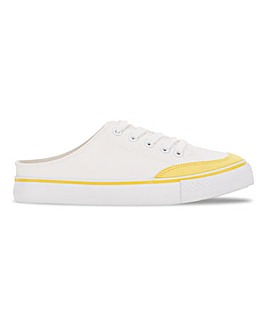 Mule Canvas Trainer Extra Wide Fit