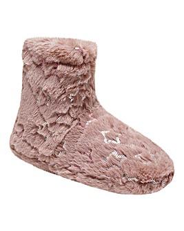 Kimmy Star Fur Slipper Boots Standard Fit