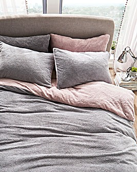 Reversible Cuddle Fleece Duvet Set