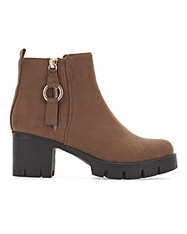Arden Cleated Sole Boots Extra Wide Fit