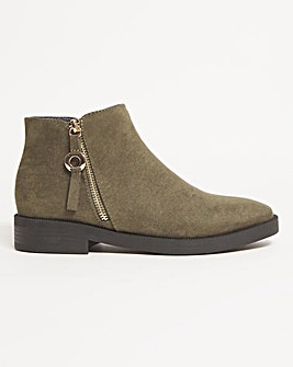 Arlette Ankle Boots Zip Detail Extra Wide Fit