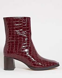 Kiana Square Toe Ankle Boots Extra Wide Fit