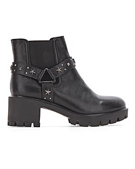 Cleated Sole Boots Wide Fit