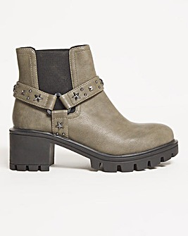 Carolyn Cleated Sole Boots Extra Wide Fit