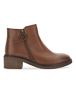 Elina Leather Ankle Boots Extra Wide Fit