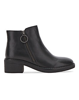Elina Leather Ankle Boots Wide Fit