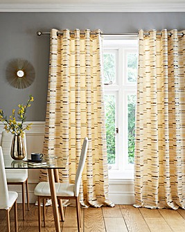 Arabella Lined Eyelet Curtains