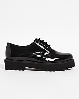 Zara Chunky Sole Brogue Extra Wide Wide Fit