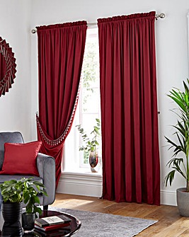 Faux Silk Reversible Slot Top Curtains