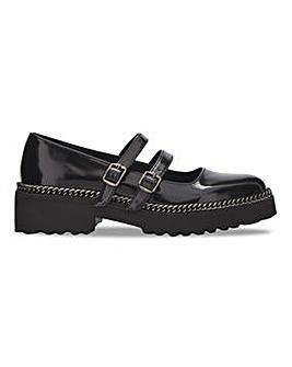 Jazz Double Buckle Shoe Extra Wide