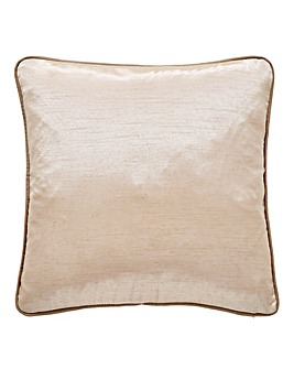 Faux Silk Filled Piped Cushion