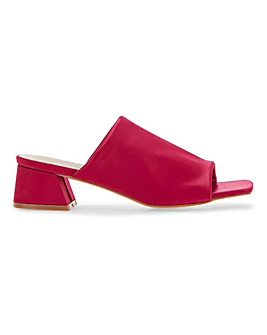 Square Toe Mule Sandals Extra Wide Fit