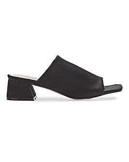 Havana Square Toe Mule Sandals Extra Wide Fit