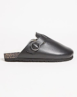 Morgan Leather Mule Extra Wide