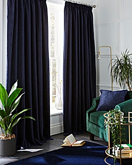 Chenille Pencil Pleat Blackout Curtain